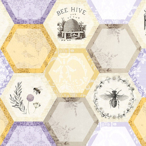 Honey and Lavender - Honeycomb Quilt