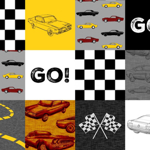 GO Racing Wholecloth - Red, yellow, black and white
