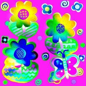 Night Blooms-rainbow garden