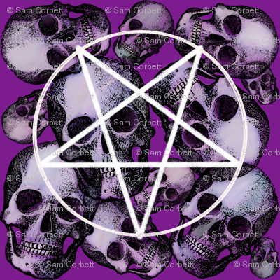 Purple skull pentagram