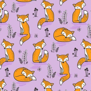 Dreamy Fox on Purple Smaller 2-2,5 inch