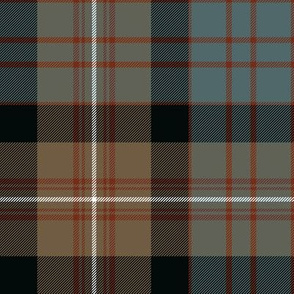 "MacDonell of Glengarry tartan #2, 8"" weathered"