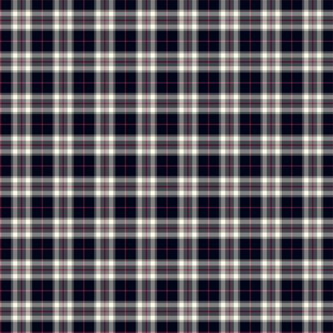 "1"" mini Thomson / Thompson tartan - reversed grey fabric by weavingmajor on Spoonflower - custom fabric"