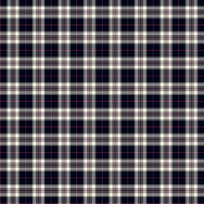 "1"" mini Thomson / Thompson tartan - reversed grey"