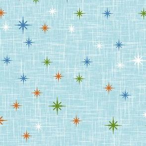 Colourful Stars on Jubilee Blue