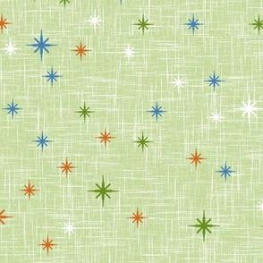 Colourful Stars on Light Olive Drab