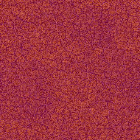 "simplified petoskey stone, karmic orange on purple, 1/3"" fabric by weavingmajor on Spoonflower - custom fabric"