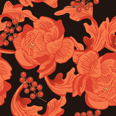 Art nouveau florals coordinate | 1 fabric by camcreative on Spoonflower - custom fabric