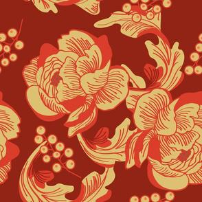 Art nouveau florals coordinate | 2