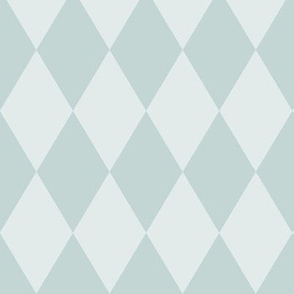 Harlequin Pattern: Watery  3, Blue Green Diamond Pattern