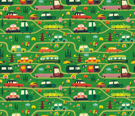 Road to vacation fabric by toy_joy on Spoonflower - custom fabric