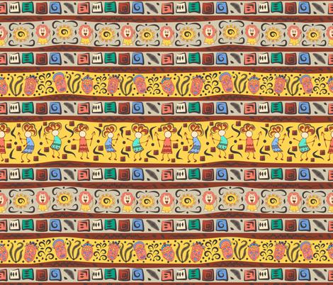 princess in africa fabric by katrinkastem on Spoonflower - custom fabric