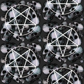 Charcoal large skulls