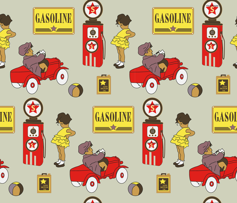 red car-01 fabric by sissi-tagg on Spoonflower - custom fabric