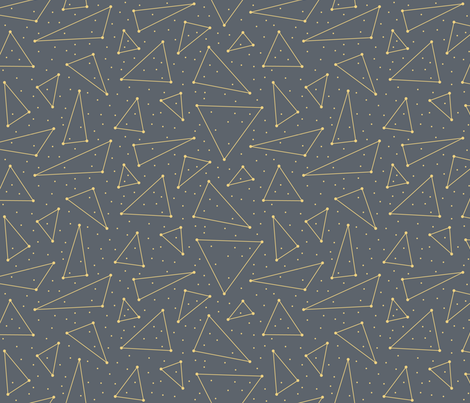 Space Triangles - Depth (Universe) fabric by brendazapotosky on Spoonflower - custom fabric