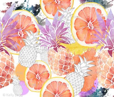Peachy Pineapples & Orange Slice