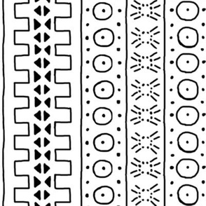 Black on White Mudcloth Inspired 3