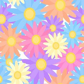 Floral Daisy Dahlia Flower Garden Colorful