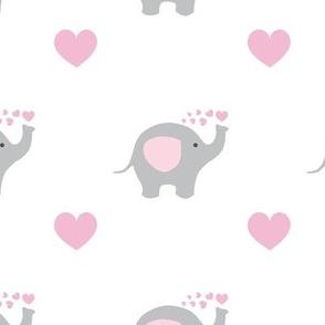 Pink Elephant Hearts Baby Girl Nursery