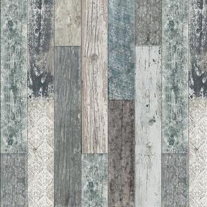 Vintage Wood Tiles Random