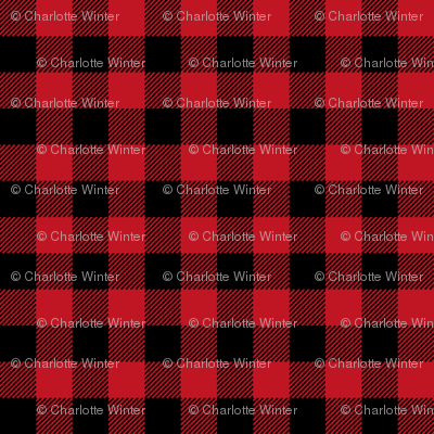 "buffalo plaid 2"" black and red kids cute nursery hunting outdoors camping red and black plaid checks"