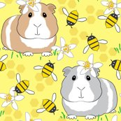 Guinea-pigs-with-bees-on-pale-yellow_shop_thumb