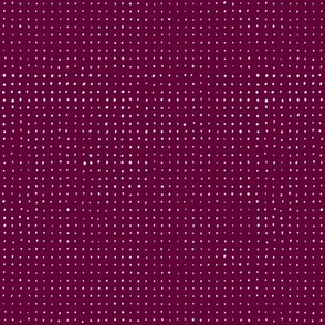 Hand drawn dots on Dark magenta