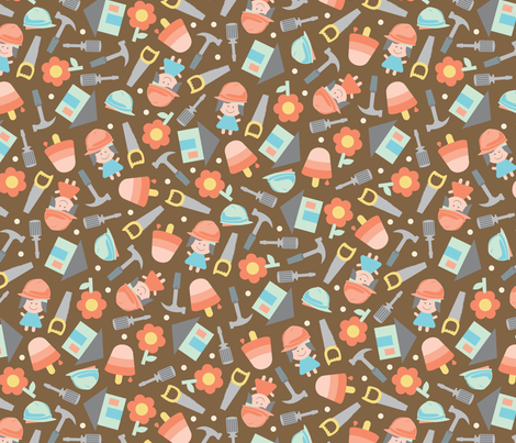 Carpenter Carrie fabric by jewelraider on Spoonflower - custom fabric