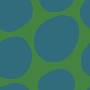 Mod Dots- Green + Teal