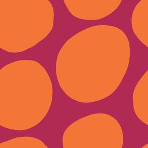 Mod Dots-Pink + Orange