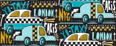 Yo Taxi - Black & Aqua