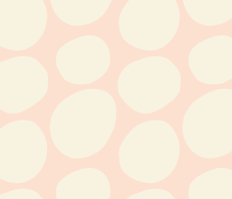 Mod Dots- Pale Pink Reverse fabric by lucyjunedesigns on Spoonflower - custom fabric
