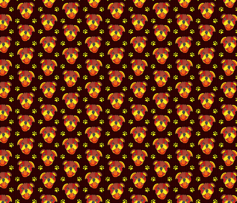 Pudding Head Collaboration fabric by de_zigns on Spoonflower - custom fabric
