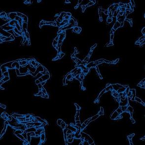 Wrestling Blue