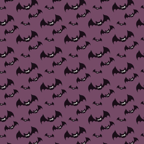 Midnight haunt—purple with black bats