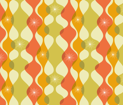 Mid-century modern fall colours fabric by roofdog_designs on Spoonflower - custom fabric