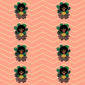 "Afro Blossom_custom 9""x 4.5"""