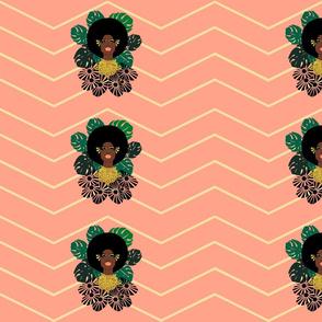 "Afro Blossom_custom 12""x6"""