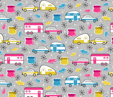Let's Hit the Road fabric by robyriker on Spoonflower - custom fabric