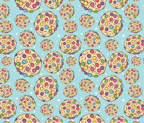Smartie Cookie, Blue Spot fabric by karen_illustrates on Spoonflower - custom fabric