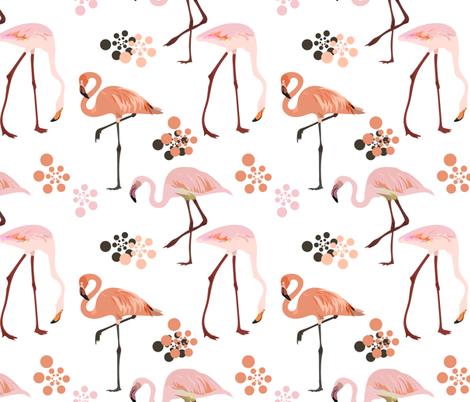 flamingo fabric by elinorka on Spoonflower - custom fabric
