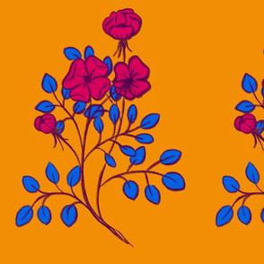 Sprig (blue & magenta)
