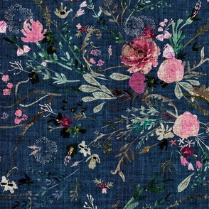 Fable Floral (navy) MED
