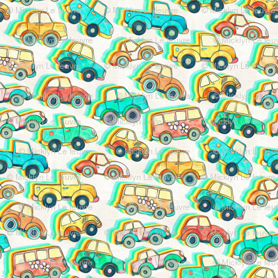 Lots of Little Cartoon Cars - large version