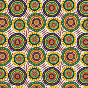 colored circular patterns