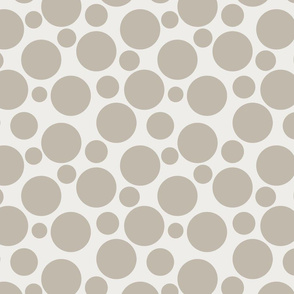 Big Bold Beige on Beige Dots