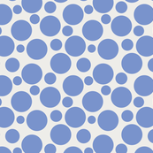 Big Bold Blue On Beige Dots