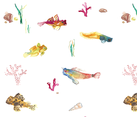 Saltwater Buddies fabric by hannah_beisang on Spoonflower - custom fabric