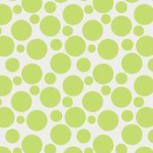 Big Bold Lime Green Dots