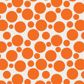 Big Bold Orange Dots On Beige